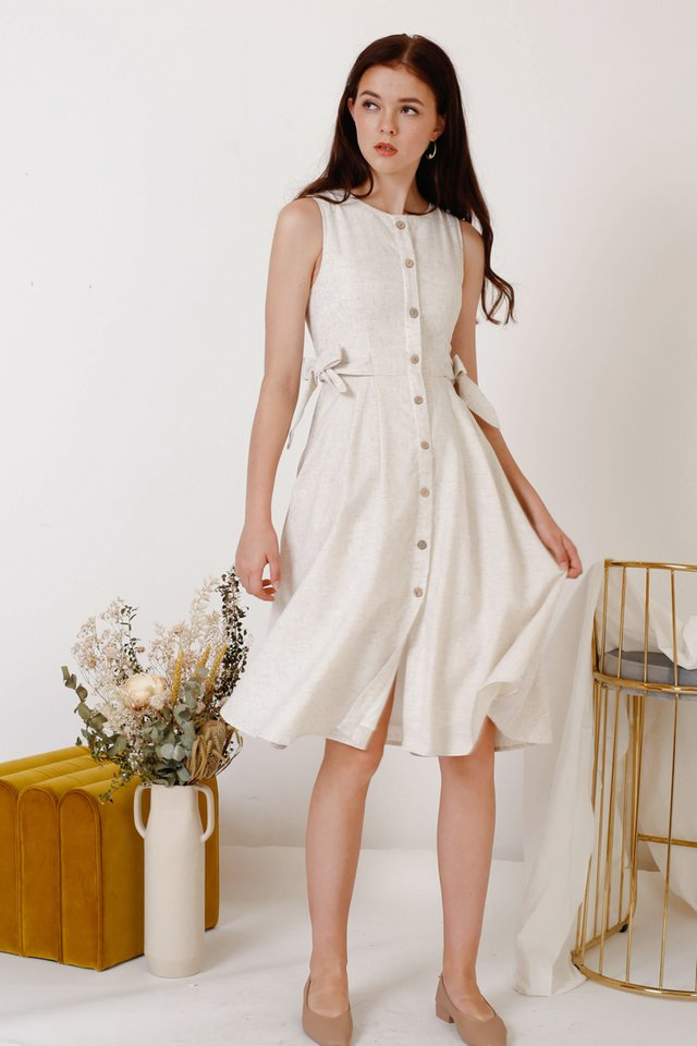 JAMIE TIE WAIST DRESS SAND