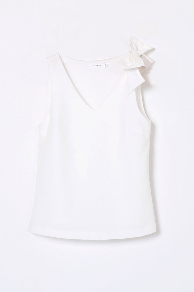 JANEL BOW TOP WHITE