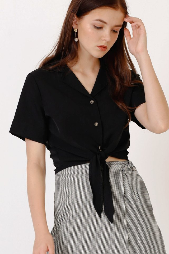 KAI CAMP COLLAR SHIRT BLACK