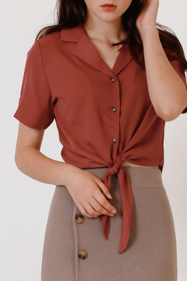 KAI CAMP COLLAR SHIRT SIENNA