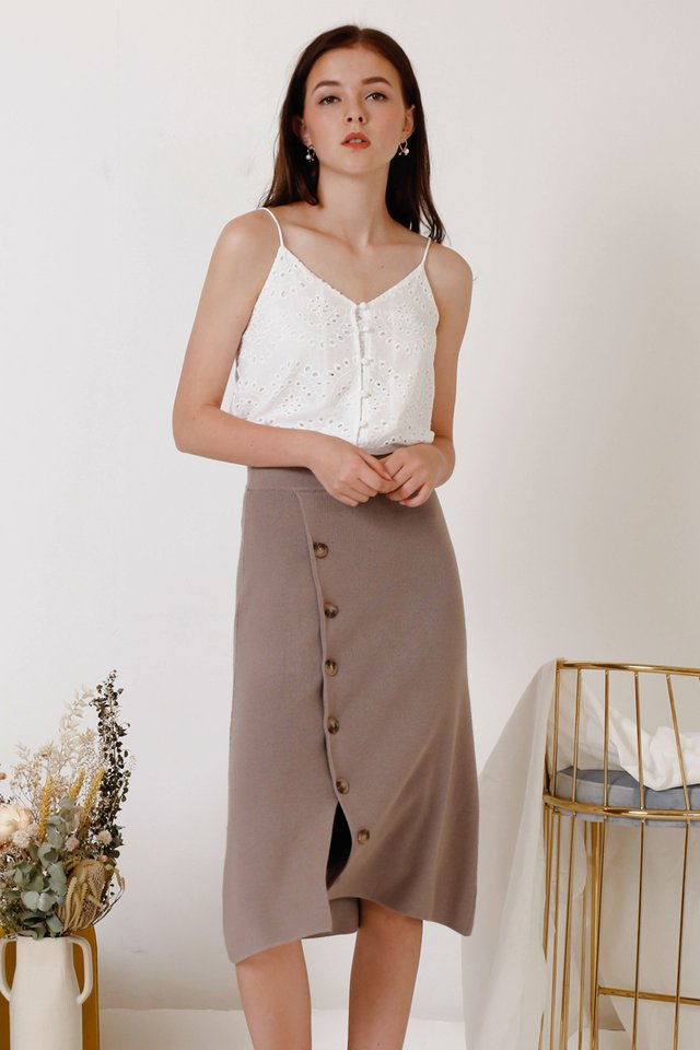PENNY KNIT SKIRT COCOA