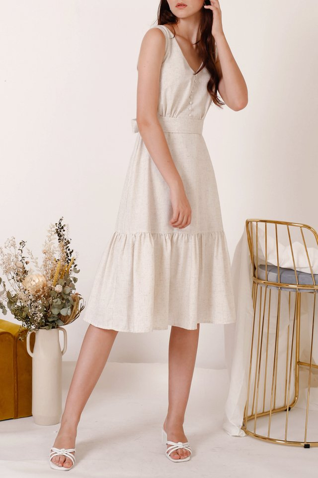 TANYA TIER HEM DRESS SAND