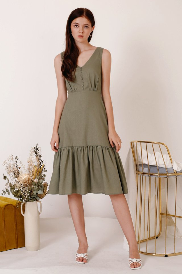 TANYA TIER HEM DRESS THYME