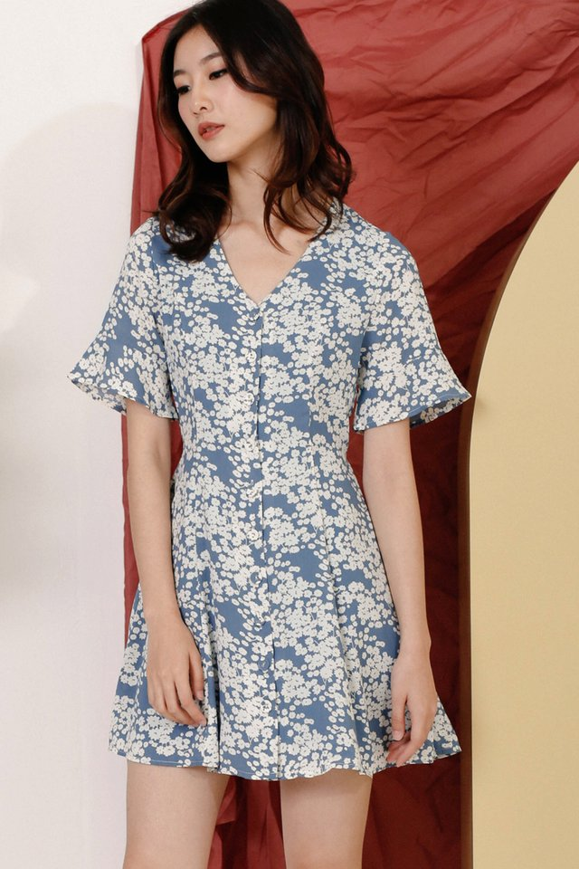 AIMEE BUTTONDOWN DRESS BLUE