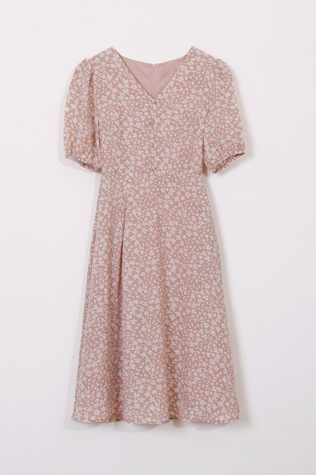 JENNIE POUF SLEEVE DRESS FLORAL