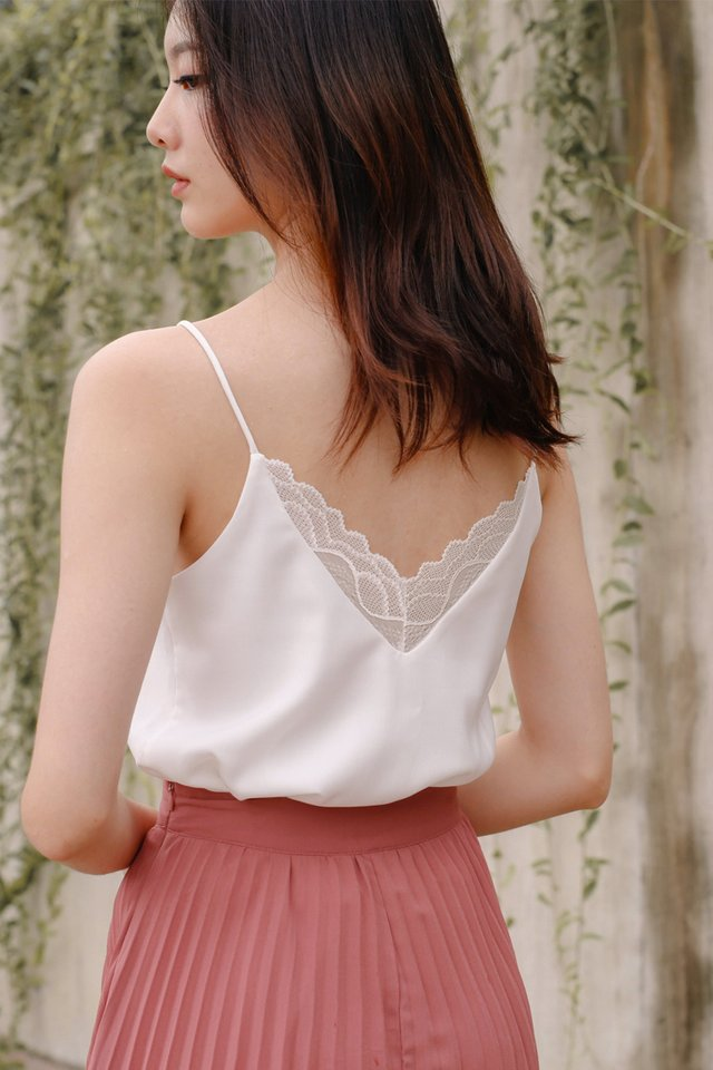 (BACKORDER) LEANNE LACE CAMISOLE WHITE