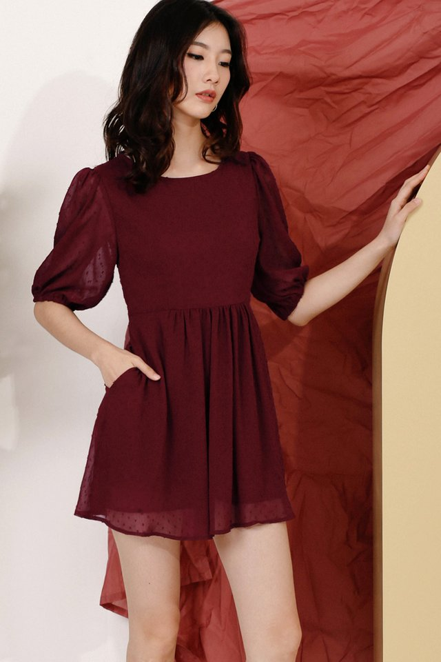 SUZY SKIRT ROMPER WINE