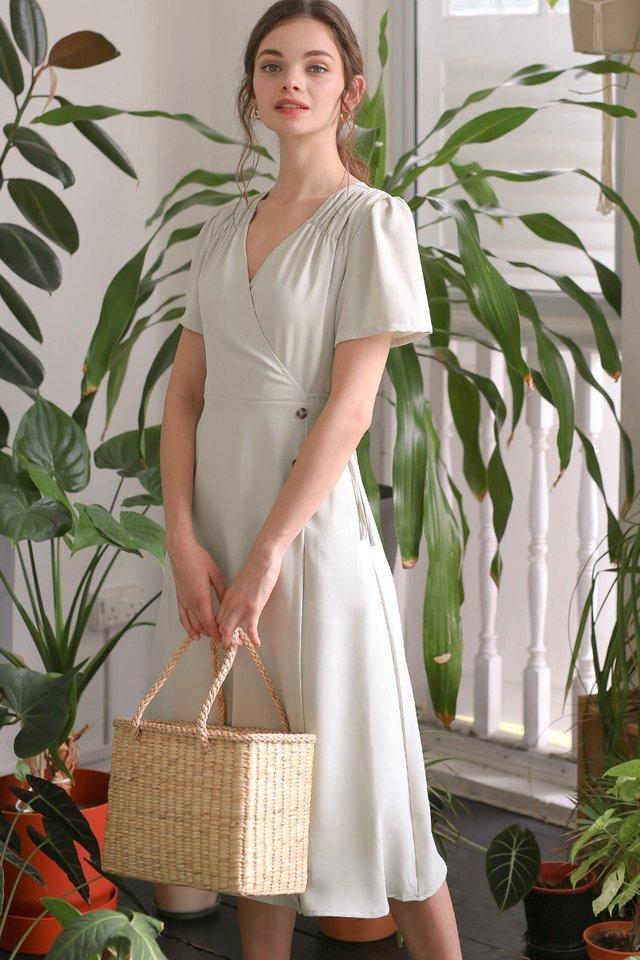 AUDREY WRAP DRESS SAGE