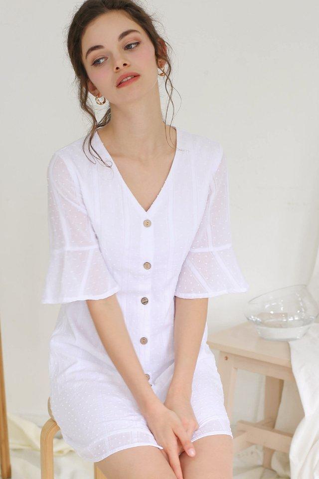 ELLA SWISS DOT DRESS WHITE