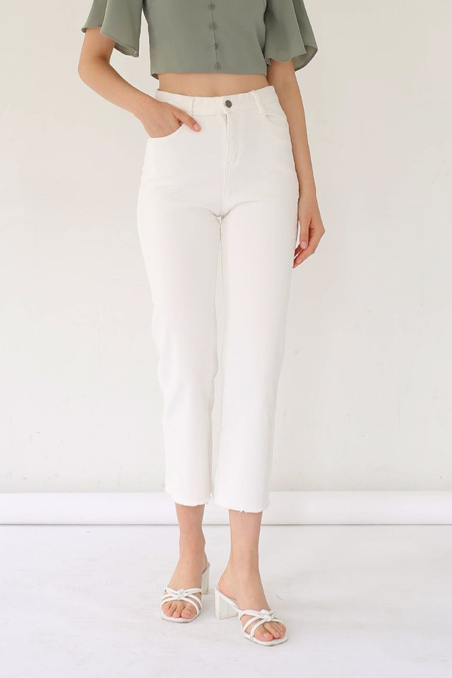 (BACKORDER) SCOTT Straight Cut Jeans White