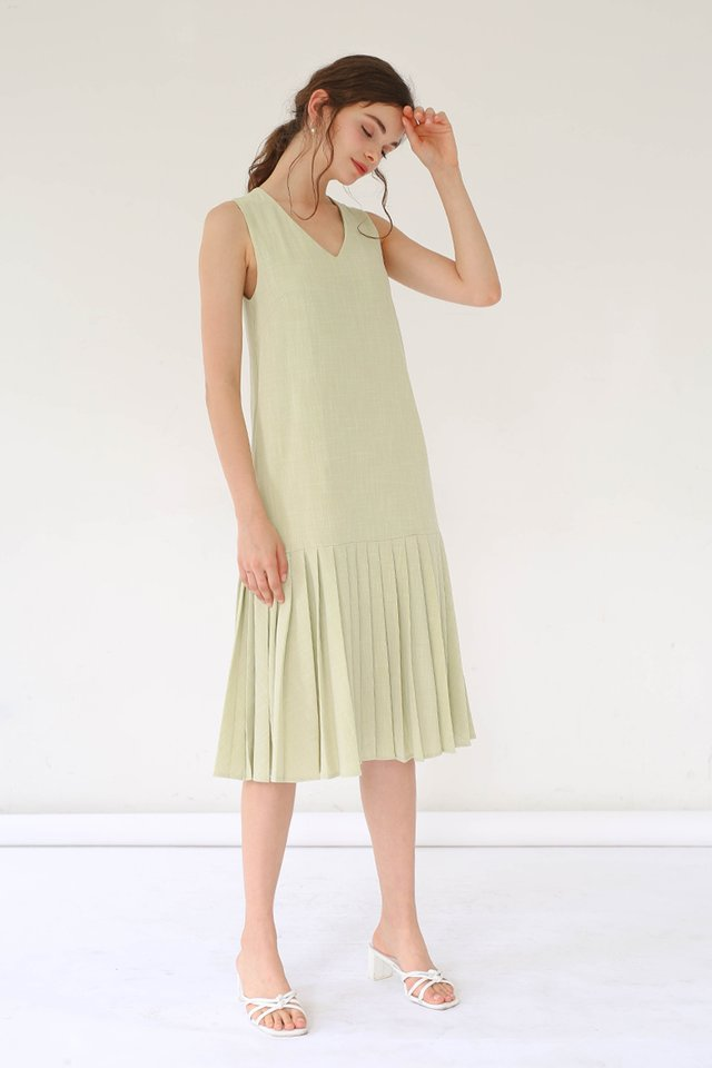 BONITA PLEAT HEM DRESS MELON