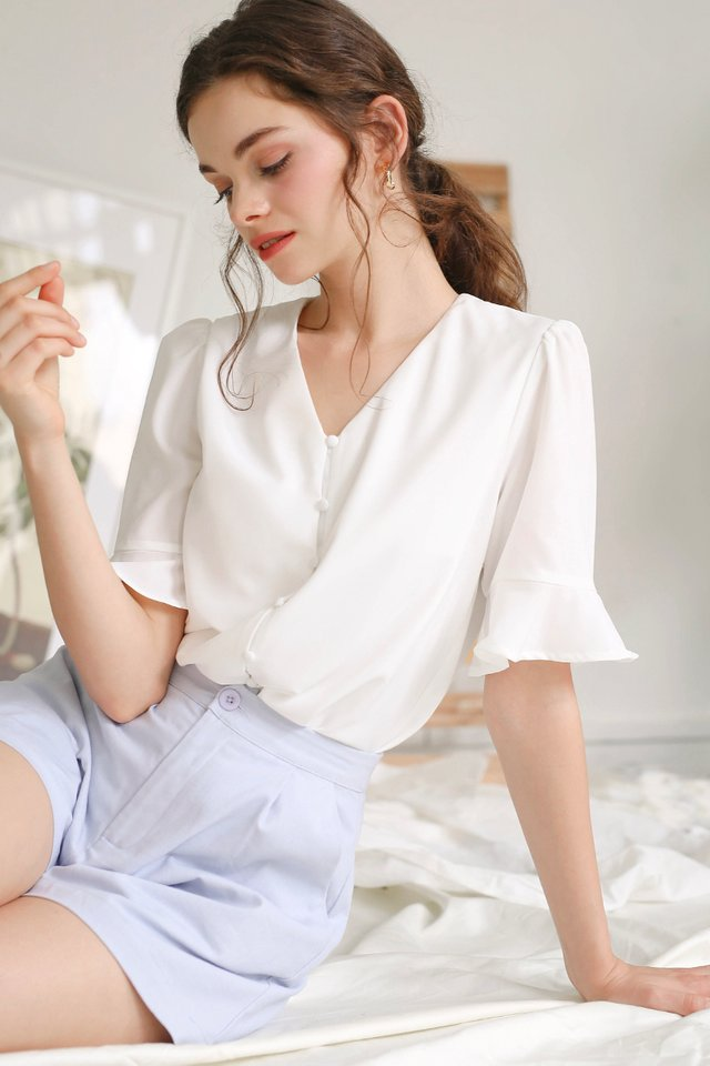 GRACE BUTTONDOWN TOP WHITE