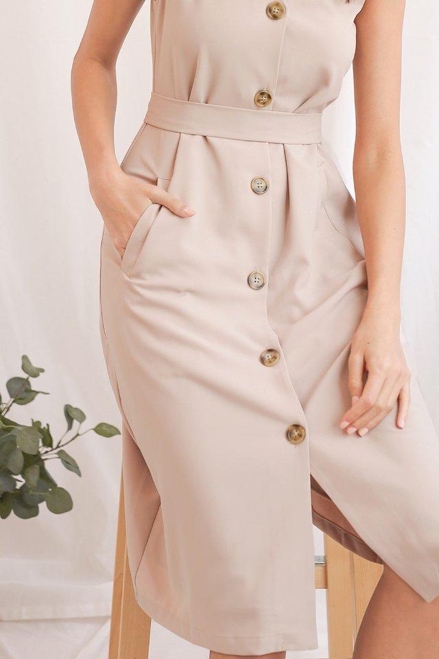 ELLE WAISTCOAT DRESS NUDE