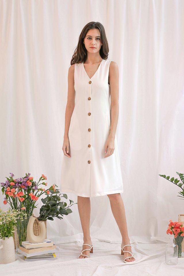 ELLE WAISTCOAT DRESS WHITE