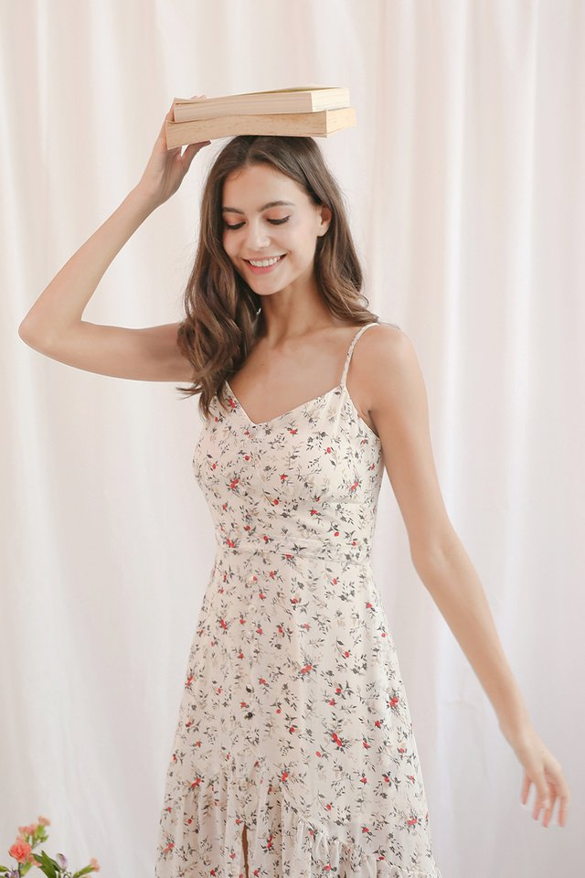 NATALIE FLORAL DRESS CREAM
