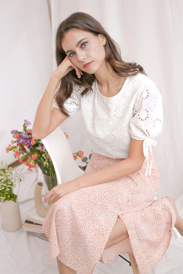 PHOEBE SPECKLED SKIRT PEACH
