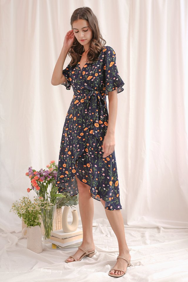 SONYA WRAP DRESS NAVY