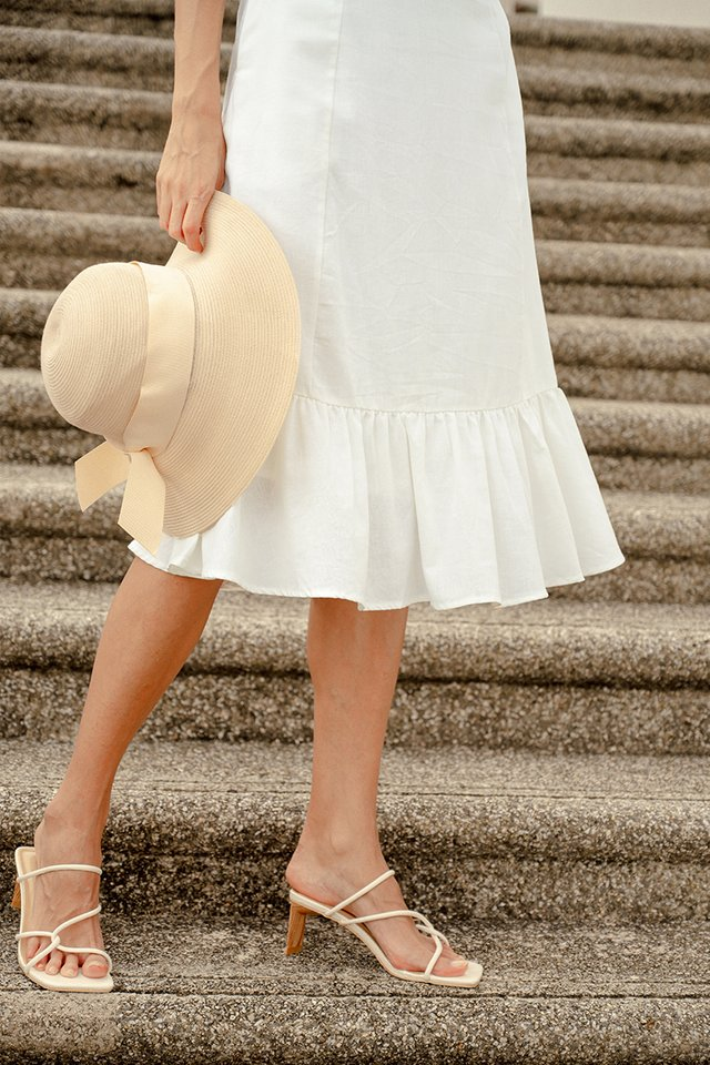 CHRISTY LINEN SKIRT WHITE