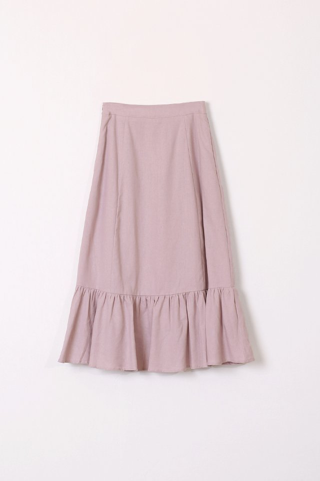 CHRISTY LINEN SKIRT LILAC