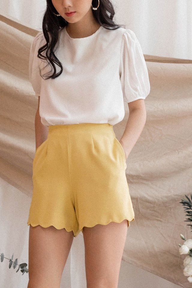 AVERY SCALLOP SHORTS POLLEN