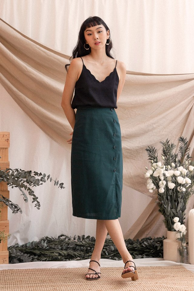 JOSIE LINEN SKIRT FOREST