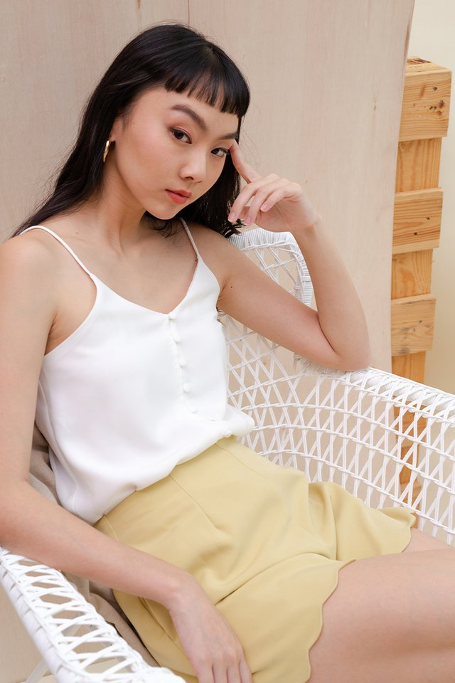 BEV BUTTON CAMISOLE WHITE
