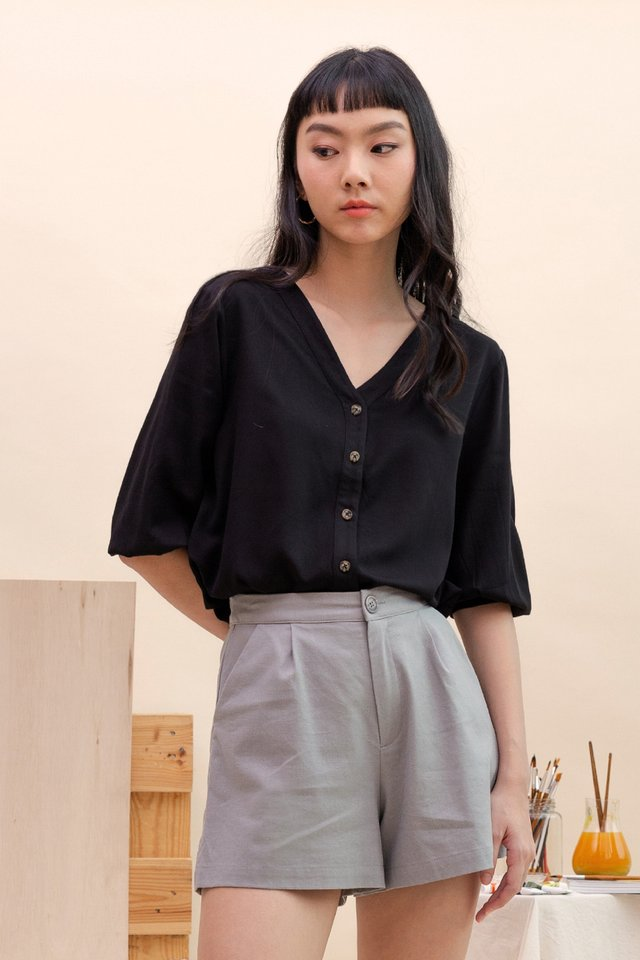 GAIL BUTTON DOWN SHIRT BLACK