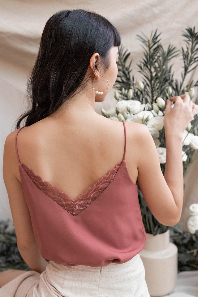 LEANNE LACE CAMISOLE ROSEWOOD