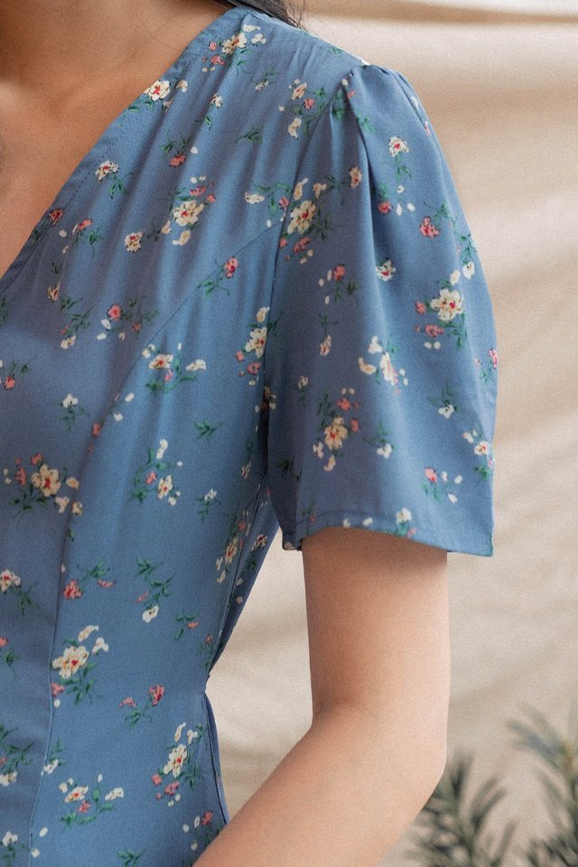 SIERA DUO SLIT DRESS BLUE