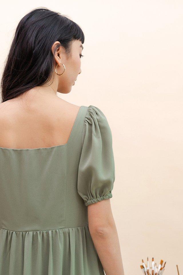 TALIA SQUARE NECK DRESS FIR