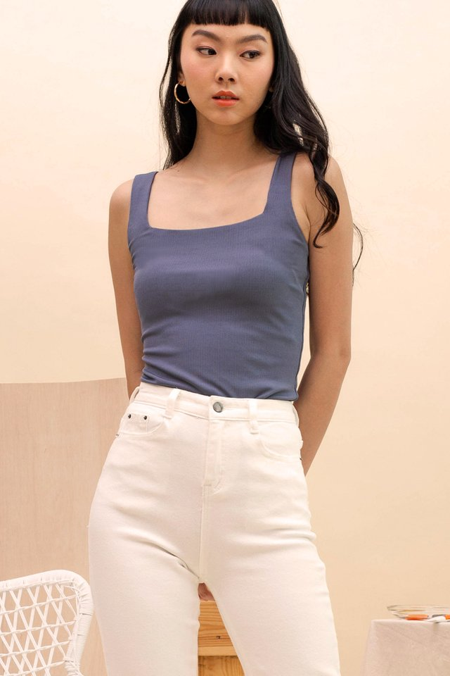EVA SQUARE NECK TANK POWDER BLUE