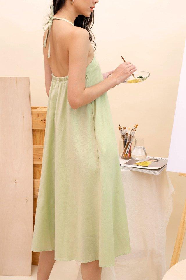 SANDRA HALTER DRESS APPLE