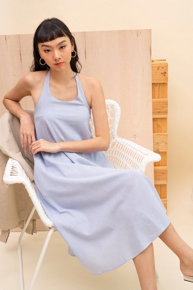 SANDRA HALTER DRESS SKY