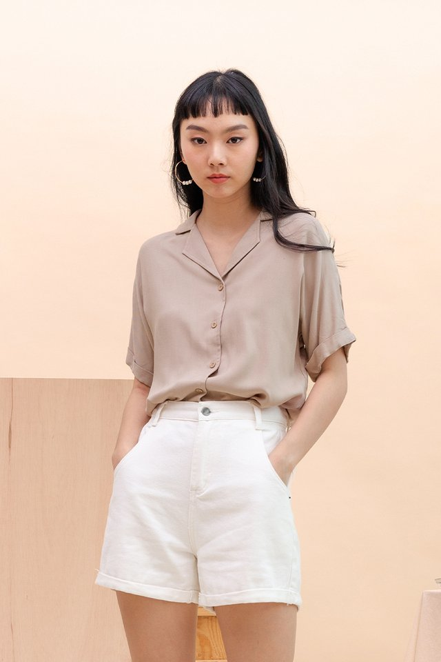 ADA CAMP COLLAR SHIRT NUDE