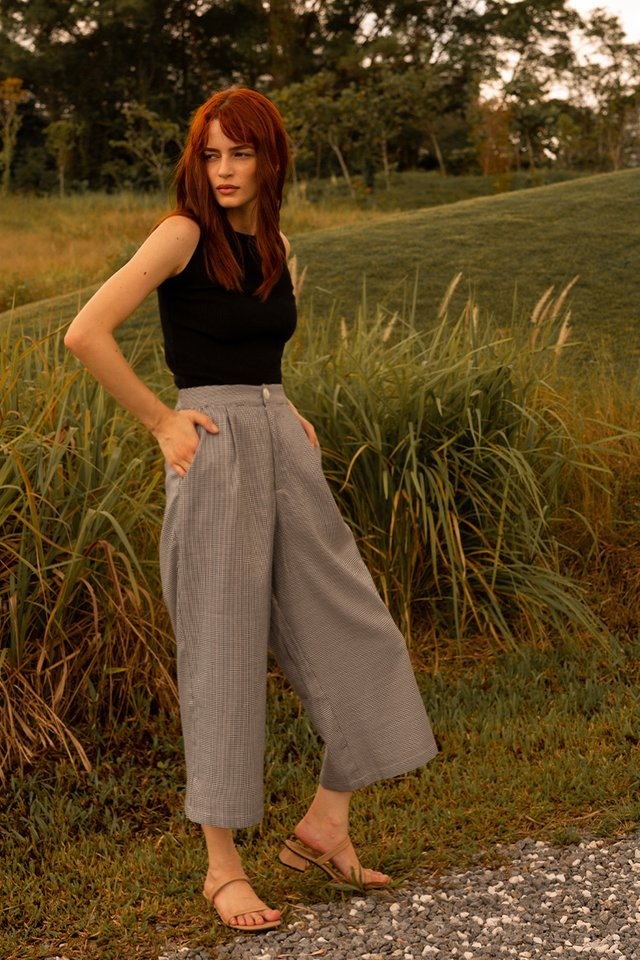 ANDIE CULOTTES HOUNDSTOOTH