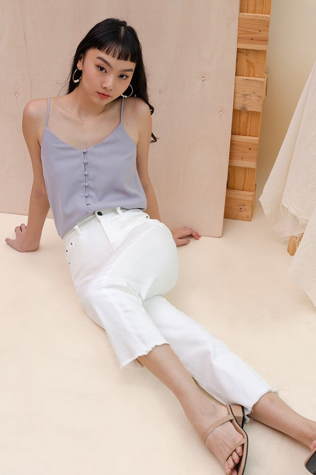 BEV BUTTON CAMISOLE BLUE GREY