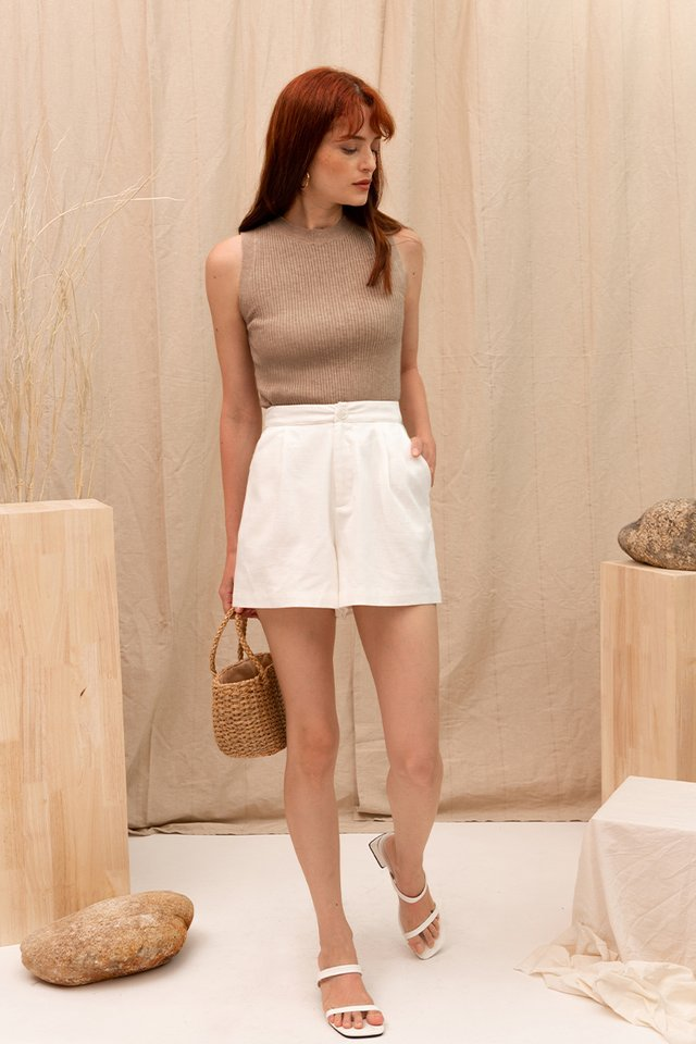 (BACKORDER) LUCIA HIGHNECK KNIT TOP OATMEAL