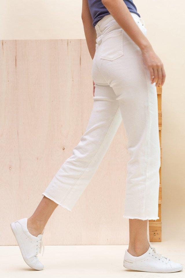 SCOTT STRAIGHT CUT JEANS WHITE
