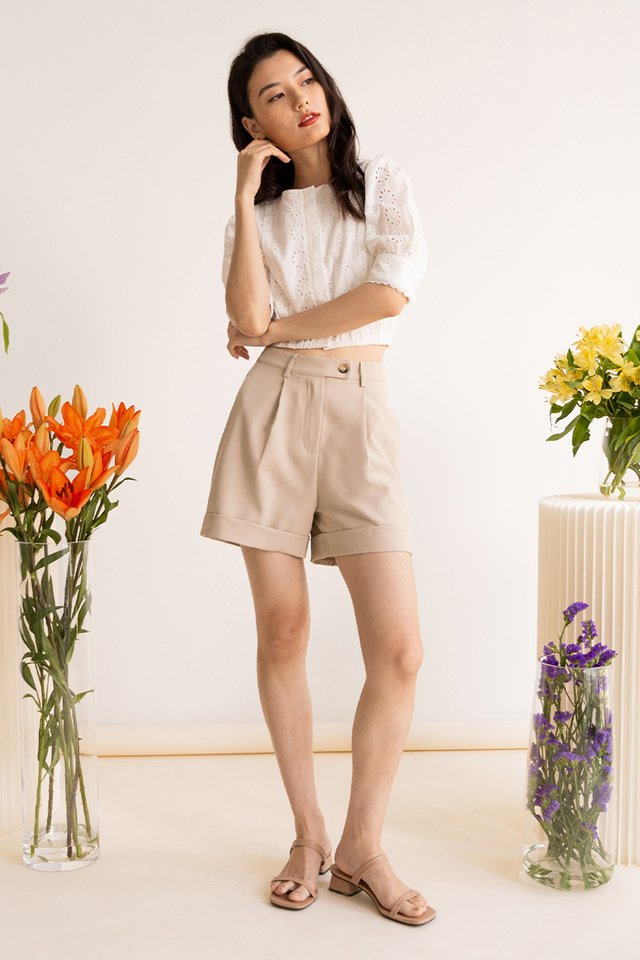 (BACKORDER) ANDRE CUFFED SHORTS CASHEW