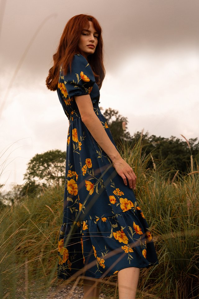 BREN FLORAL DRESS NAVY