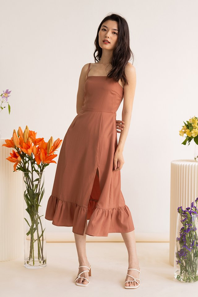 KATE SIDE SLIT DRESS ROSE