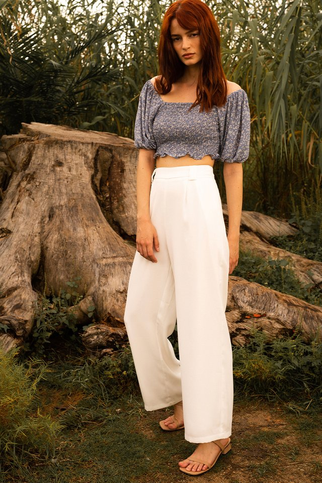LILY PALAZZO PANTS WHITE (ONLY SIZE XL)