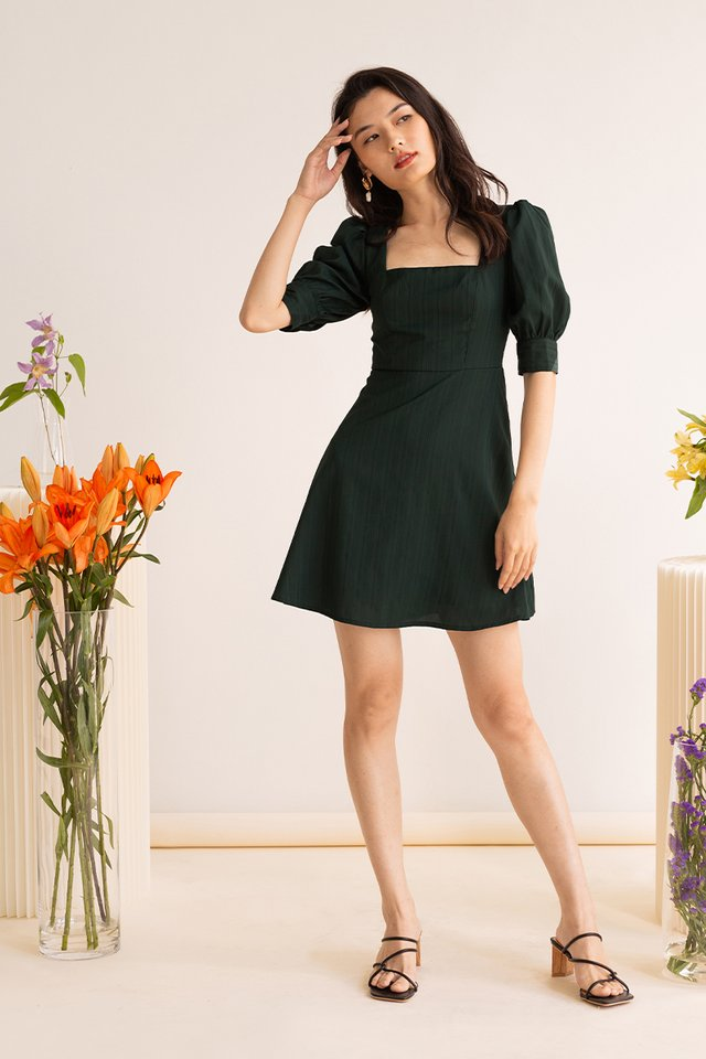 (BACKORDER) ESME PANEL DRESS FOREST