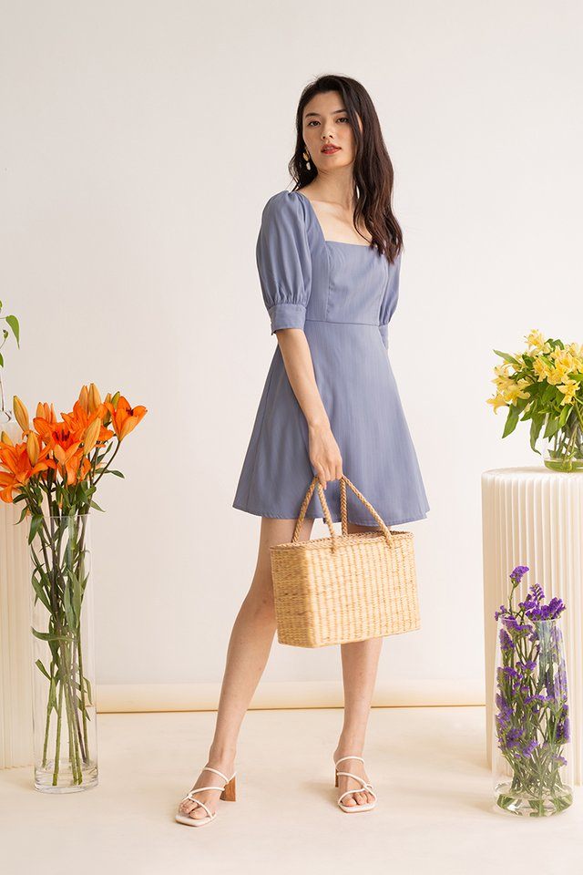 ESME PANEL DRESS POWDER BLUE