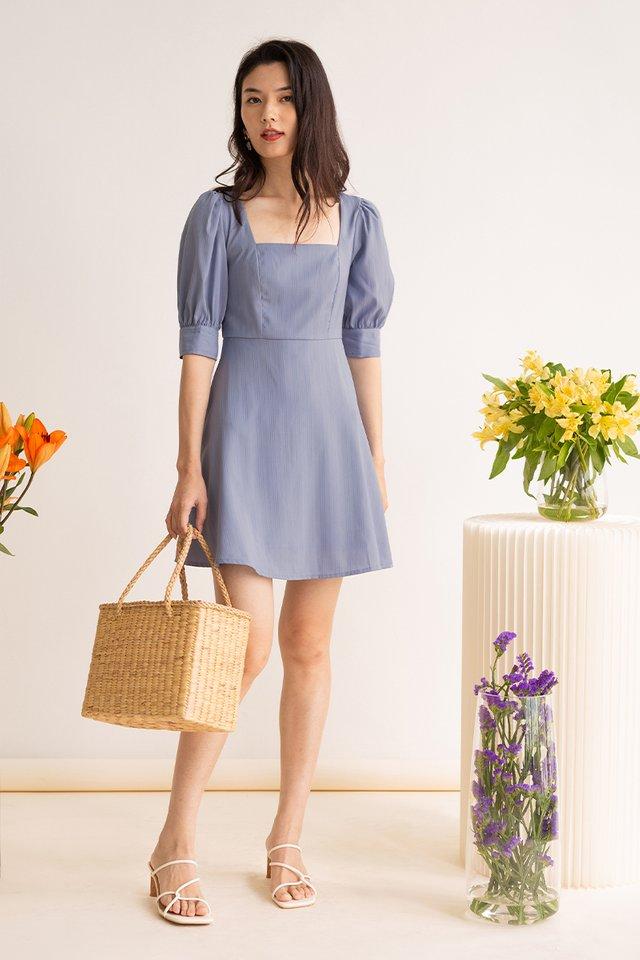 ESME PANEL DRESS POWDER BLUE
