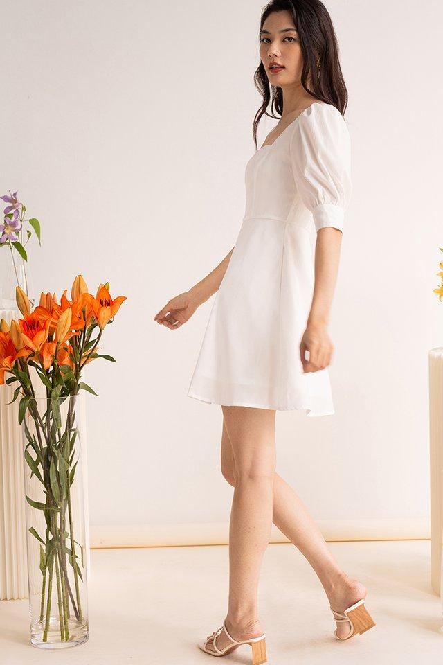 ESME PANEL DRESS WHITE