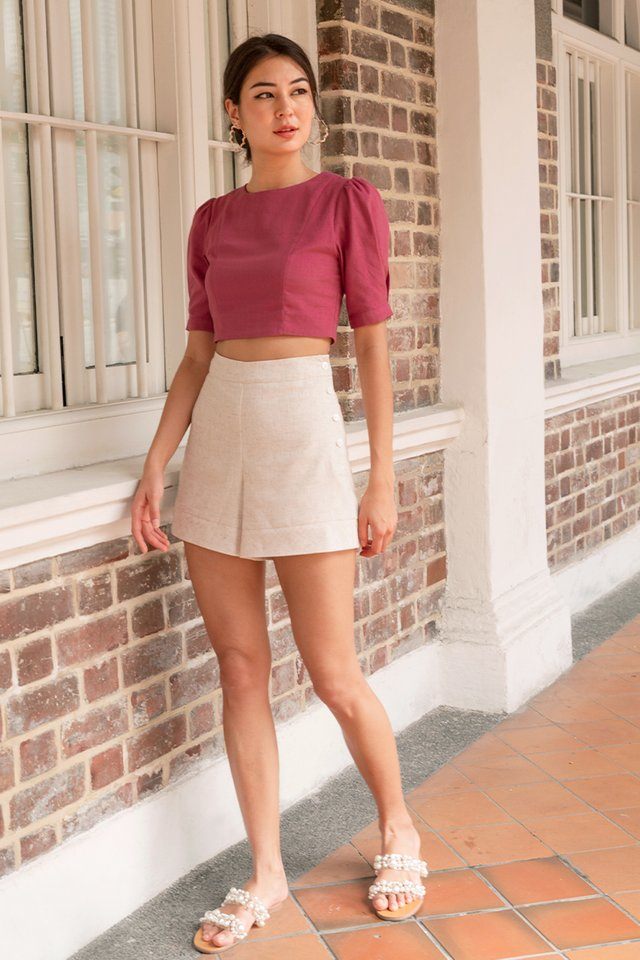 TAYLOR LINEN SHORTS SAND