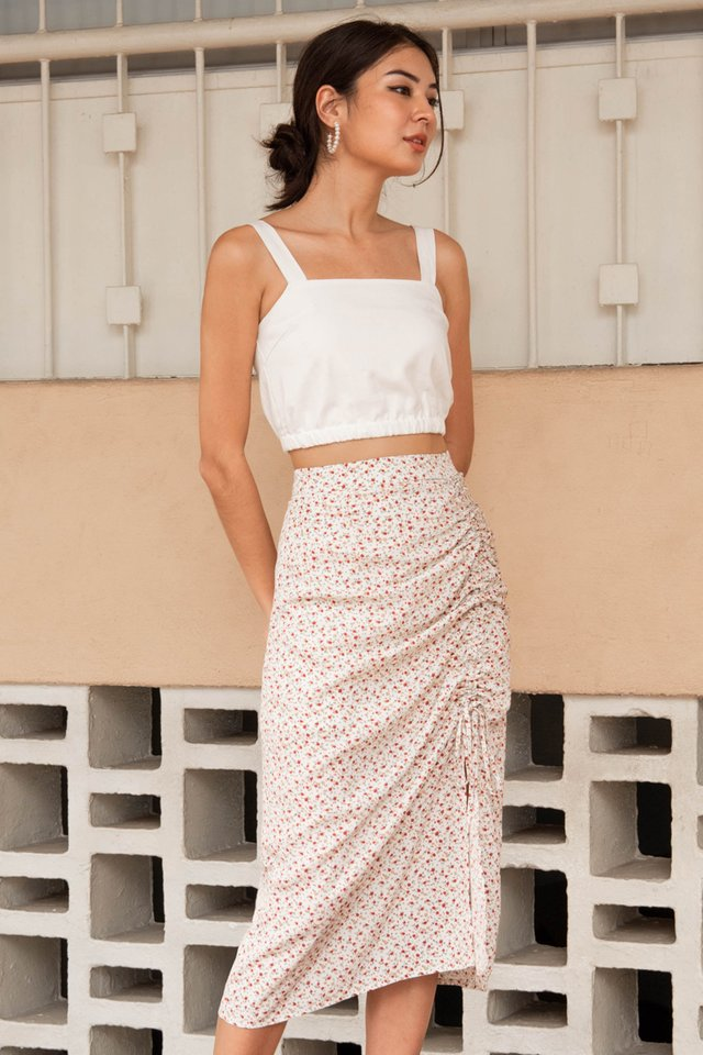 SUMMER DRAWSTRING SKIRT CREAM